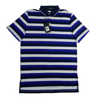 Polo Ralph Lauren RLX Golf Medium Mens Shirt Short Sleeve Blue Stretch NWT