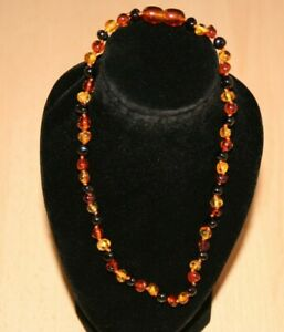 Genuine Baltic Amber Necklace Polished Baroque Multi Baltic Amber Necklace 32cm