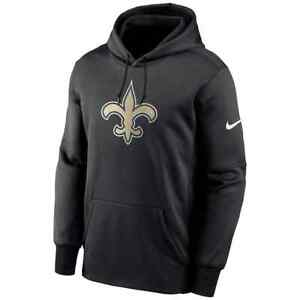 New 2021 New Orleans Saints Nike Fan Gear Primary Logo Therma Pullover Hoodie NO