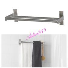 "Ikea Grundtal Double Towel Rail 15 3/4"" Stainless Steel Double Bar Rack Holder"