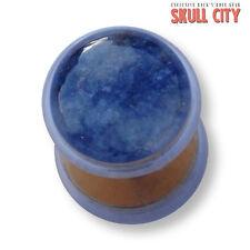 SODALITE ORO Gemstone Fakeplug-Fake piercing Stone plug orecchini a bottone Sodalith