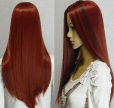 vogue long straight red mixed women's wig/ Human-made hair wigs+cap H161
