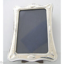 SILVER PICTURE FRAME.  ART NOUVEAU STYLE HALLMARKED STERLING SILVER PHOTO FRAME