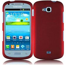 For Samsung Galaxy Axiom R830 Rubberized HARD Protector Case Phone Cover Red