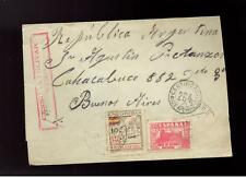 1937 Vigo Spain Censored civil war cover to Argentina