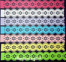 MARTHA STEWART DOILY LACE PAPER STRIP PUNCHES DIE CUTS PUNCHIES