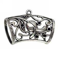 5Pcs Tibetan Silver Floral Scarf Bail Ring T15983 FREE SHIP