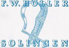 F W HOLLER / SOLINGEN German WW2 DAGGER CATALOGUE 25 Mono Plates Rare 1941 Book