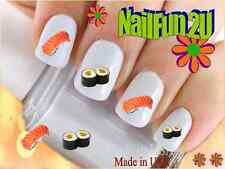 "RTG Set#602 IMAGE ""Japanese Sushi"" WaterSlide Decals Nail Art Transfers Salon"