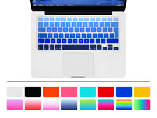"English Silicone EU Keyboard Cover Protector For MacBook Pro Air Retina 13""15""17"