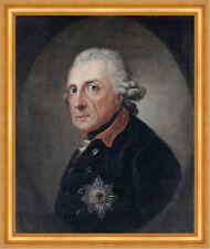 Friedrich der Große von Anton Graff 1781 Faksimile Hohenzollern A3 157 Gerahmt