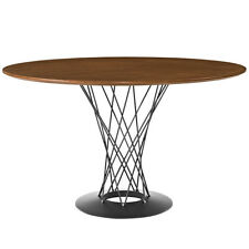 Cyclone Round Wood Top Dining Table-Walnut Color FREE SHIPPING