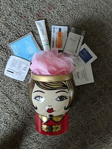 CUSTOM Skin Care Sephora Deluxe Samples BEAUTY BOX w Limited Edition Benefit Tin