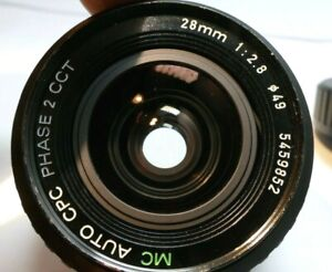 Cosmicar CPC 28mm f2.8 Lens for Pentax K A KA KR manual focus wide angle prime
