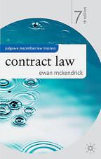 Contract Law (Palgrave Macmillan Law Masters) by McKendrick, Ewan