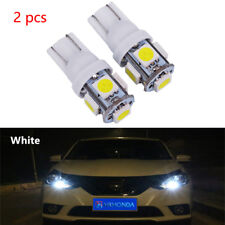 2pcs T10 5050 W5W 5 SMD 194 168 LED White Car Side Wedge Tail Light Lamp