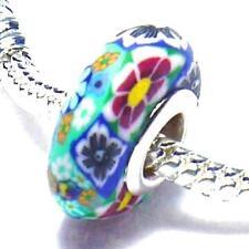 Silver Flowers Plants Costume Charms & Charm Bracelets