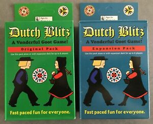 Dutch Blitz Card Game Original AND Expansion Pack Combo NEW SEALED + Free Ship
