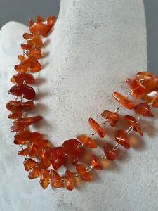 Vintage Baltic cognac Amber strand necklace, 60 grams
