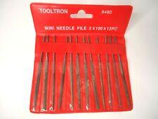 Tooltron USA Mini Needle File Set 8480 12 Pcs B1