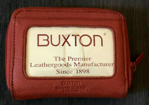 Buxton Genuine Leather Salmon Color Wallet Womens