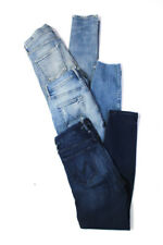 Mother Citizens of Humanity Womens Hi-Rise Skinny Jeans Blue Size 27 28 Lot 3