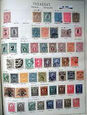 schöne hochwertige Briefmarkensammlung Paraguay 1870 bis 1924