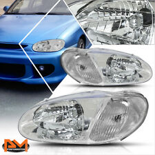 For 98-01 Kia Sephia Direct Replacement Headlight/Lamp Chrome Housing Clear Side