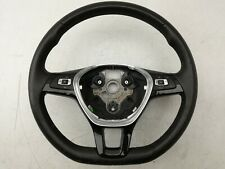 VW POLO 6R MULTIFUNCTIONAL 3 SPOKE LEATHER STEERING WHEEL 6C0419091E