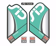 Rock Shox SID Team Mountain Bike Cycling Factory Decal Kit Sticker Turquoise