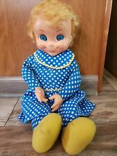 "Vtg Mattel 1967 Mrs. Beasley Doll Not Talking No Glasses Apron 21"" Tall"