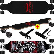 Deuba ® Longboard Skateboard Drop Down 105cm Board ABEC 9 T-tool completo Board