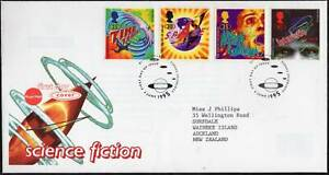 GREAT BRITAIN #1616-19 1995 Science Fiction Set FDC Used