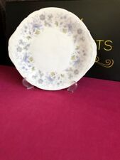 Colclough Rhapsody in Blue Eared Cake / Bread Plate 10.5""