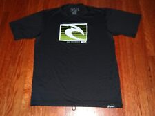 NWOT Ripcurl Men's black silky tee M t shirt top 50 UPF UV Sun protection surfer