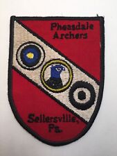 Vtg Pheasdale Archers Patch Sellersville Pa Bow Hunting Target Archery Arrow