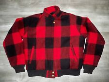 Vintage Woolrich Made in USA Buffalo Plaid Wool Women's Jacket Coat Size Small