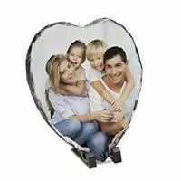 Personalised Heart Shaped Photo Rock Slate Ornament Gift - Mothers Day 2020