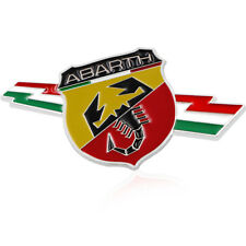 Car Styling 3D Metal Car Abarth Badge Emblem Decal Sticker Scorpion For All Fiat