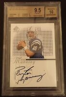 Peyton Manning Autographed Upper Deck SP Beckett 9.5 Gem Mint #91