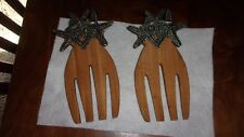 Beautiful Bamboo and Metal Starfish Salad Server Hands