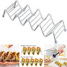 Wave Shape Stainless Steel Taco Holder Display Holders Kitchen Food Rack Shell