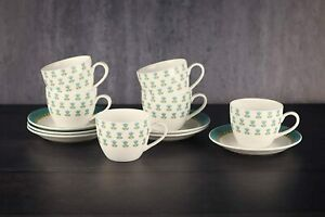 Ceramic Fine Bone China Tea Cup and Saucers Set, 200 ML, Set of 12