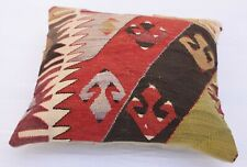 16''x16''  Bohemian Cushion Case ,Vintage Pillow Cover, Tribal Kilim Pillowcase