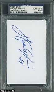 Walter Payton Chicago Bears HOF Signed Index Card PSA PSA/DNA Authentic AUTO