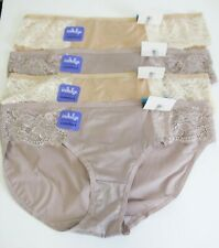 4 Bali Satin Indulgence Lace Bikini Panty Multi 2829 Sz 9/2XL - NWT