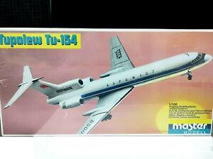 Master Model 1:100 scale Aeroflot Russian Tupolev Tu-154 Plastic Air Plane Kit