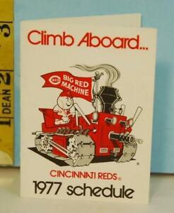 1977 Cincinnati Reds Big Red Machine Schedule CLIMB ABOARD Marathon