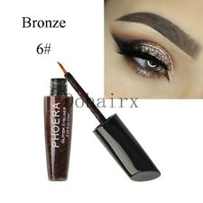 10 Color Waterproof Shimmer Eyeshadow Glitter Liquid Eyeliner Metallic Cosmetics A6