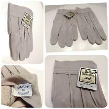 LL Bean Men's Gloves Gray Buck Skin Sta Soft Leather Unlined Medium Style 1113